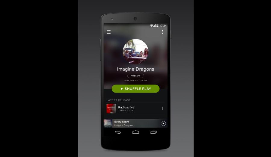 La nueva cara de Spotify para Android