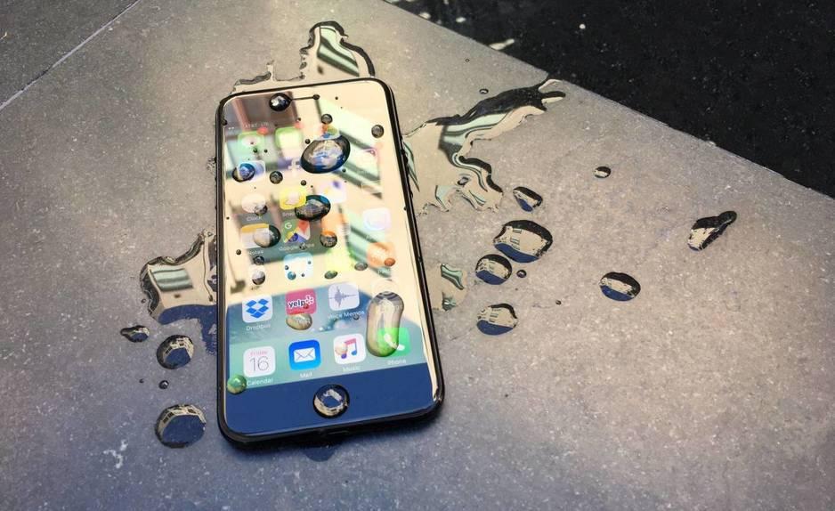Iphone 7 resistente al agua, NO SUMERGIBLE!